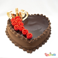 Cute Heart Chocolate cake